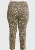 Plus Size Cheetah Denim Pants alternate view