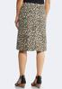 Plus Size Cheetah Denim Skirt alternate view