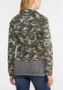 Plus Size Raw Hem Camo Jacket alternate view