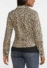 Plus Size Cheetah Denim Jacket alternate view