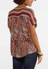 Lace Up Paisley Poet Top alternate view