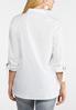 Plus Size White Button Down Shirt alternate view