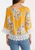 Plus Size Sunny Floral Poet Top alternate view
