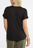 Plus Size Knotted Gold Leaf Tee alternate view
