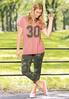 Plus Size Sporty Camo Number Tee alt view