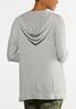 Plus Size Hacci Hooded Sweatshirt alternate view