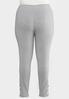 Plus Size Gray Lattice Hem Leggings alternate view