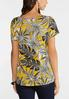 Plus Size Twisted Gold Leaf Top alternate view