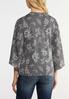 Plus Size Floral Tie Front Cardigan alternate view