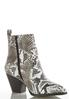 Snakeskin Western Ankle Boots alternate view