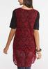 Plus Size Crochet High- Low Vest alternate view