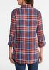 Plus Size Navy And Clay Plaid Shirt alternate view