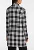 Plaid Knit Tunic Jacket alternate view