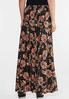Plus Size Ribbed Floral Skirt alternate view