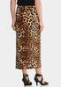 Plus Size Leopard Hardware Skirt alternate view