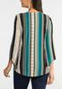 Plus Size Puff Stripe Knotted Top alternate view
