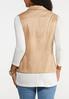 Plus Size Drape Suede Vest alternate view
