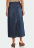 Plus Size Denim Split Back Maxi Skirt alternate view