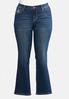 Plus Petite Bootcut Bling Feather Jeans alternate view