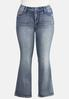 Plus Size Curvy Floral Studded Jeans alternate view