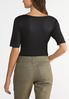 Plus Size Elbow Sleeve Bodysuit alternate view