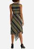 Plus Size Striped Asymmetrical Hem Dress alternate view