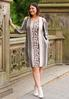 Plus Size Cold Shoulder Animal Dress alternate view