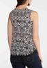 Plus Size Crochet Trim Floral Tank alternate view