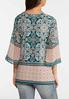 Plus Size Paisley Bell Top alternate view