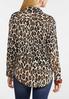 Plus Size Leopard Tie Front Shirt alternate view