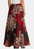 Plus Size Floral Paisley Maxi Skirt alternate view