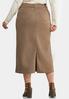 Plus Size Walnut Denim Skirt alternate view