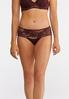 Plus Size Floral Lace Hipster Panty Set alternate view