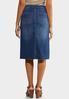 Plus Size Raw Edge Denim Skirt alternate view