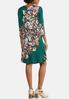 Plus Size Floral Swing Dress alternate view