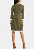 Plus Size Ribbed Knit Swing Dress alternate view