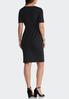 Plus Size Tie Waist Sheath Dress alternate view