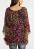 Plus Size Flutter Sleeve Poet Top alternate view