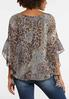 Plus Size Olive Leopard Print Top alternate view