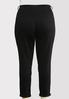 Plus Size Black Skinny Ankle Jeans alternate view
