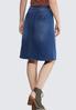Plus Size Pocket Front Denim Skirt alternate view