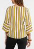 Gold Tie Front Top alternate view