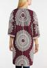 Plus Size Embroidered Wine Kimono alternate view