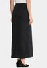 Plus Size Pull- On Ponte Midi Skirt alternate view