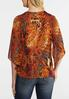 Plus Size Animal Bell Sleeve Top alternate view