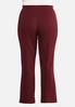 Plus Size Slim Bootcut Ponte Pants alternate view