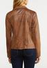 Plus Size Draped Faux Leather Jacket alternate view