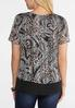 Plus Size Layered Mixed Print Top alternate view
