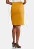 Plus Size Gold Textured Pencil Skirt alternate view