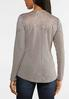 Plus Size Ribbed Lace Shoulder Top alternate view